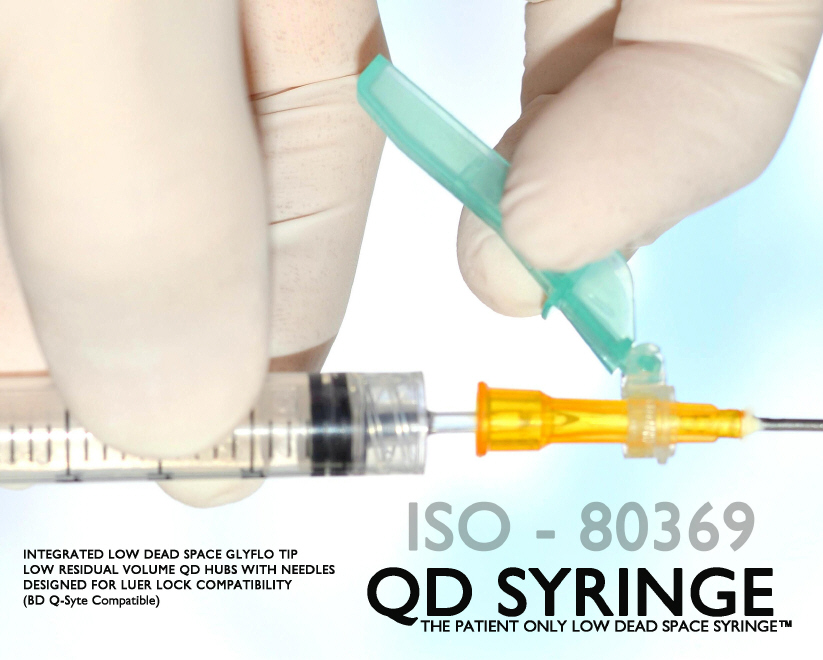 QD Syringe - ISO 80369 - Patient Only Low Dead Space Syringe System